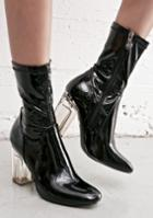 Cape Robbin Black Clear Heel Boot