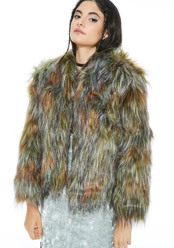 Re Named Faux Fur Jacket