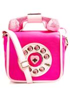 Betsey Johnson Pink Telephone Purse