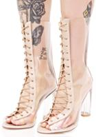 Cape Robbin Clear Lace-up Boots
