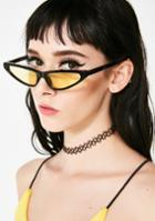 Lucent Yellow Tinted Lenses Brow Bar Sunglasses