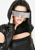 Solstice Trends Silver Studded Festival Shield Sunglasses