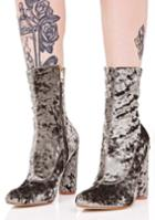 Cape Robbin Velvet Heeled Booties