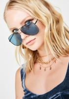 Lucent Oversize Tinted Aviator Sunglasses