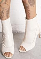 Cape Robbin Nude Open Toe Vinyl Booties