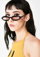 Lucent Skinny Oval Tinted Sunglasses