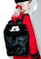 Lazy Oaf X Disney Mickey Mouse Faux Fur Backpack
