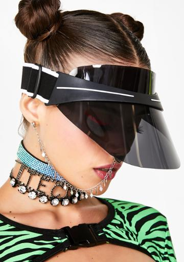 Fame Accessories Clear Sports Visor