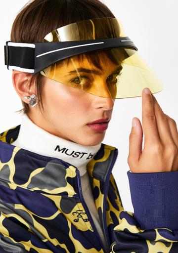 Fame Accessories Yellow Sports Clear Visor