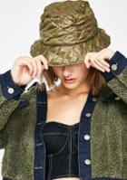 Fame Accessories Quilted Puffer Bucket Hat