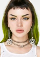 Fad Treasures Chain Pentagram Drop Earrings