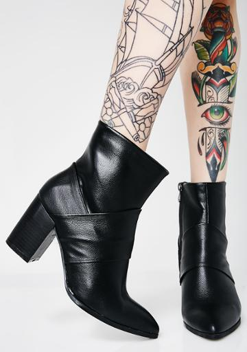 M&l Pu Ankle Boots