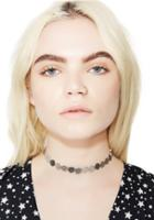 Fame Accessories Silver Mini Discs Choker