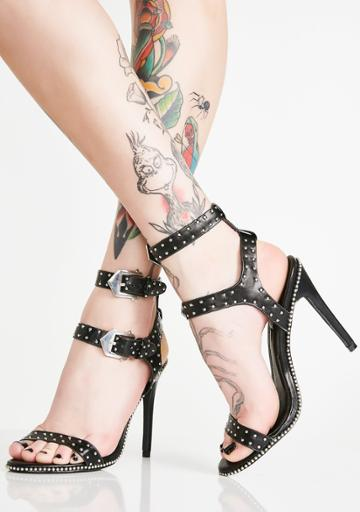 Cape Robbin Strappy Studded Heels