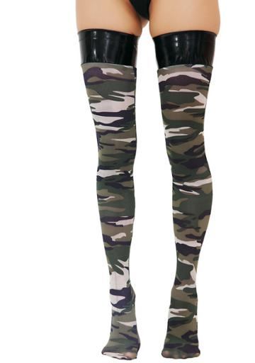Be Wicked Straight Shooter Camo Stockings