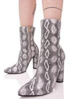 Cape Robbin Chic Grey Python Heeled Boots