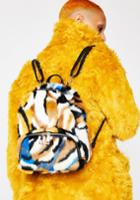 Icco Accessories Fuzzy Striped Tiger Mini Backpack