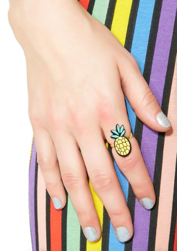 Ana Accessories Pineapple Statement Ring