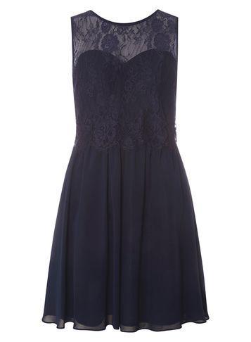 Dorothy Perkins *showcase Navy 'lola' Prom Dress