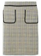 Dorothy Perkins *tall Grey Checked Mini Skirt