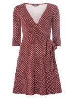 Dorothy Perkins Berry Geometric Print Wrap Dress