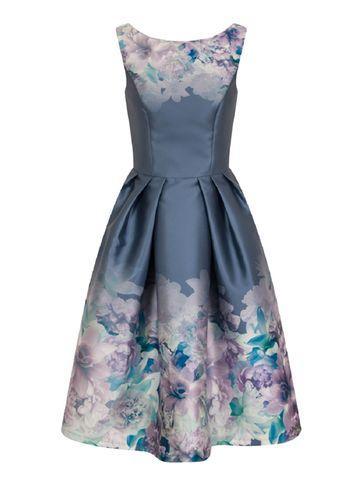 Dorothy Perkins *chi Chi London Multi Floral Print Midi Dress