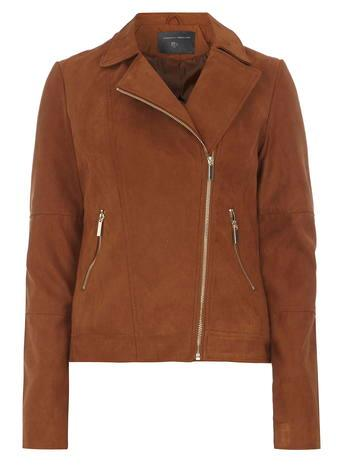 Dorothy Perkins Tall: Faux Suede Biker Jacket