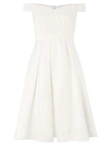 Dorothy Perkins *white Bridal 'tabitha' Skater Dress