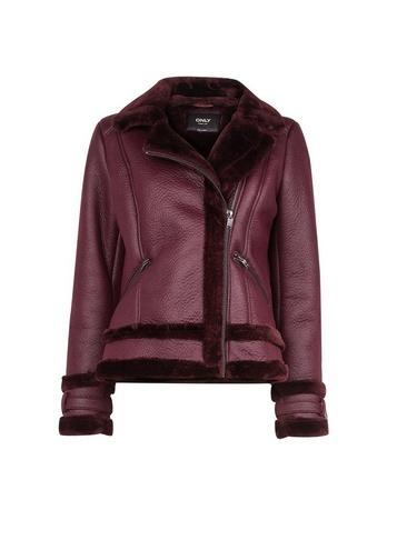 *only Mulberry Shearling Aviator Jacket