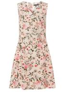 Dorothy Perkins Blush Floral Print Fit And Flare Dress