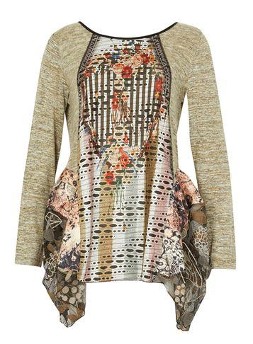 Dorothy Perkins *izabel London Multi Green Contrast Tunic Top