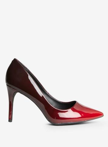 Dorothy Perkins Red Pu Eden Court Shoes