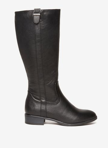 Dorothy Perkins Black 'tonia' Faux Leather Boots