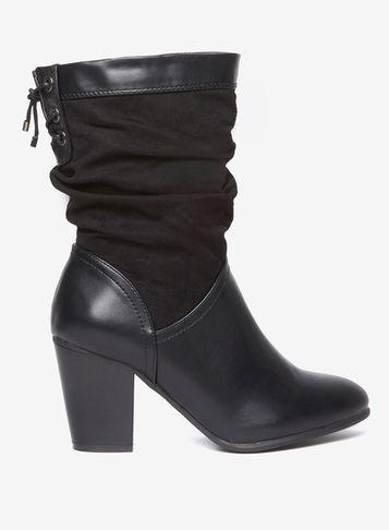Dorothy Perkins Wide Fit Black 'kassy' Boots