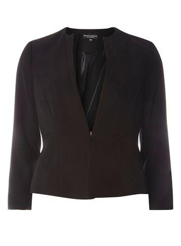 Dorothy Perkins Black Tailored Collarless Jacket