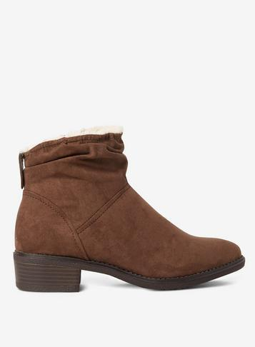 Dorothy Perkins Wide Fit Mnk Microfibre Monaco Boots