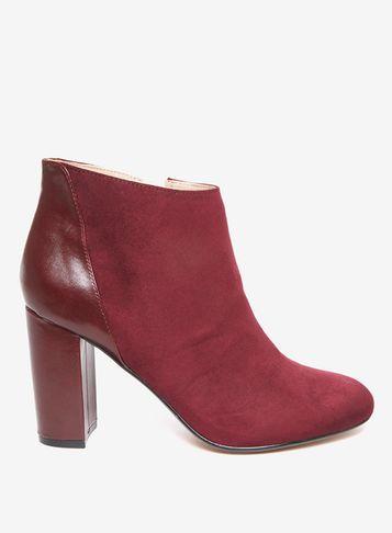 Dorothy Perkins * Lily & Franc Burgundy 'jemima' Ankle Boots