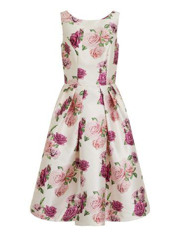 Dorothy Perkins *chi Chi London White Floral Print Dress