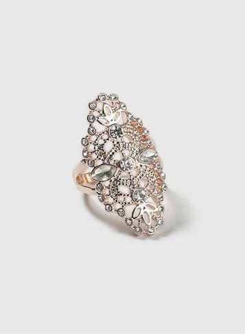 Dorothy Perkins Rose Gold Filigree Ring