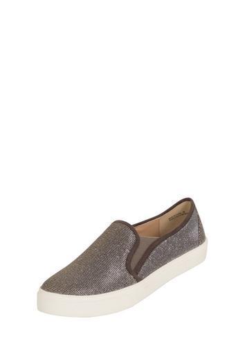 Dorothy Perkins *london Rebel Lurex Flatform Sneaker
