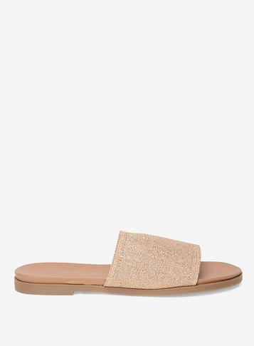 Dorothy Perkins Gold Extra-padded 'flame' Mules