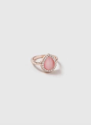 Dorothy Perkins Pink Oval Stone Ring