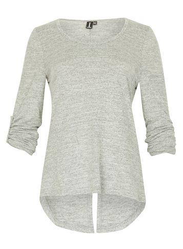 Dorothy Perkins *izabel London Grey Split Back Top