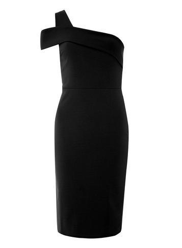 Dorothy Perkins Black One Shoulder Bodycon Dress