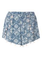 Dorothy Perkins Tile Print Tassel Shorts