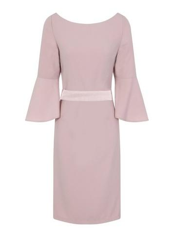 Dorothy Perkins *chi Chi London Pink Bow Back Detail Midi Shift Dress
