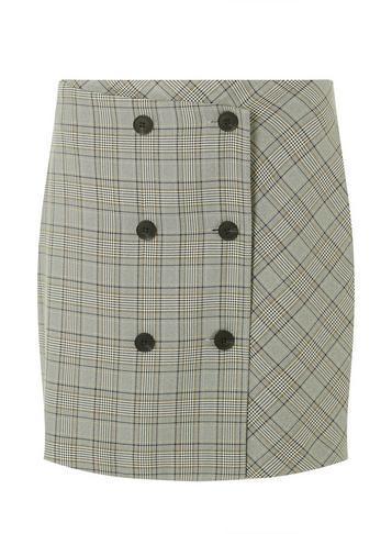 Dorothy Perkins Multi Coloured Checked Mini Skirt
