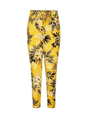 Dorothy Perkins Petite Yellow Tropical Print Joggers