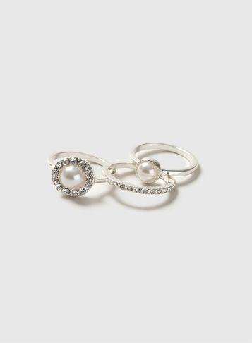 Dorothy Perkins Silver Cocktail Ring Pack