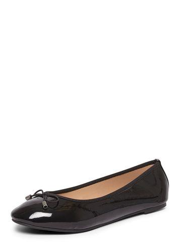 Dorothy Perkins Wide Fit Black Patent 'pandora' Pumps